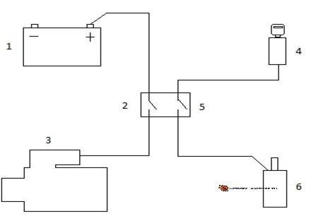 Схема подключения замка под капотом