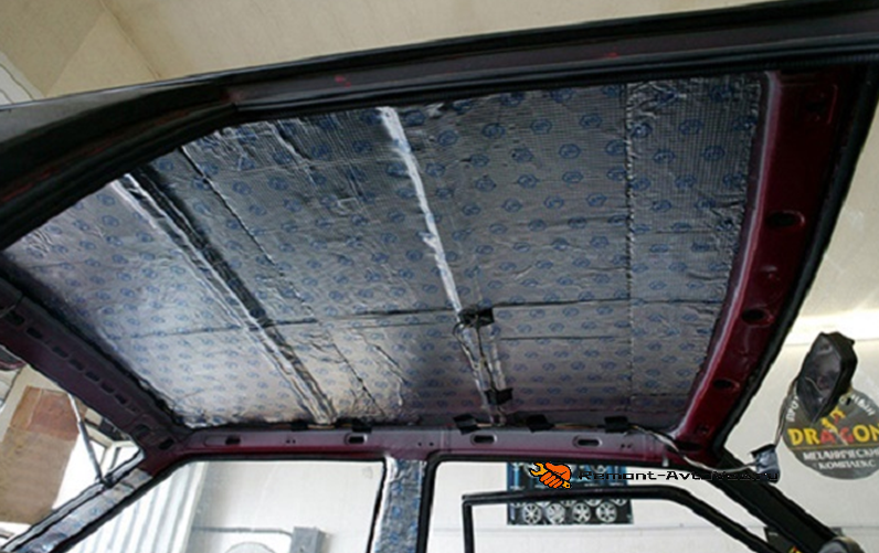 Утепление крыши Ваз-2108