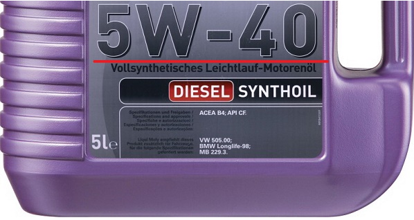 Моторное масло 5w-40