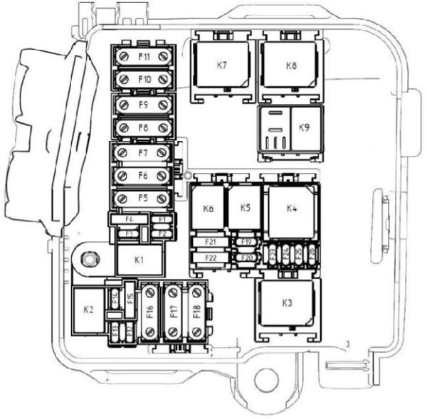 Схема предохранителей lada xray