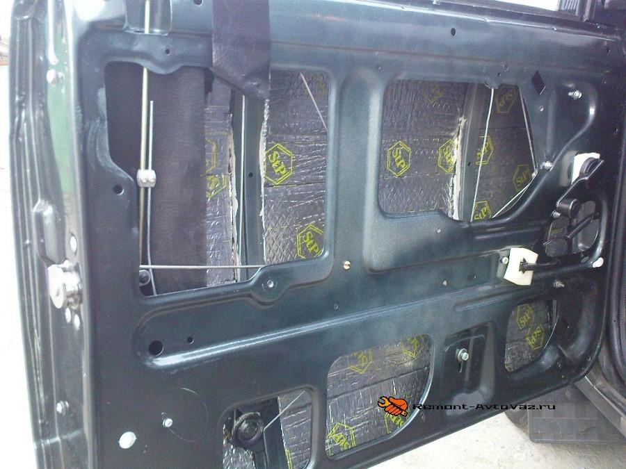 Теплоизоляция дверей автомобиля ВАЗ-2107