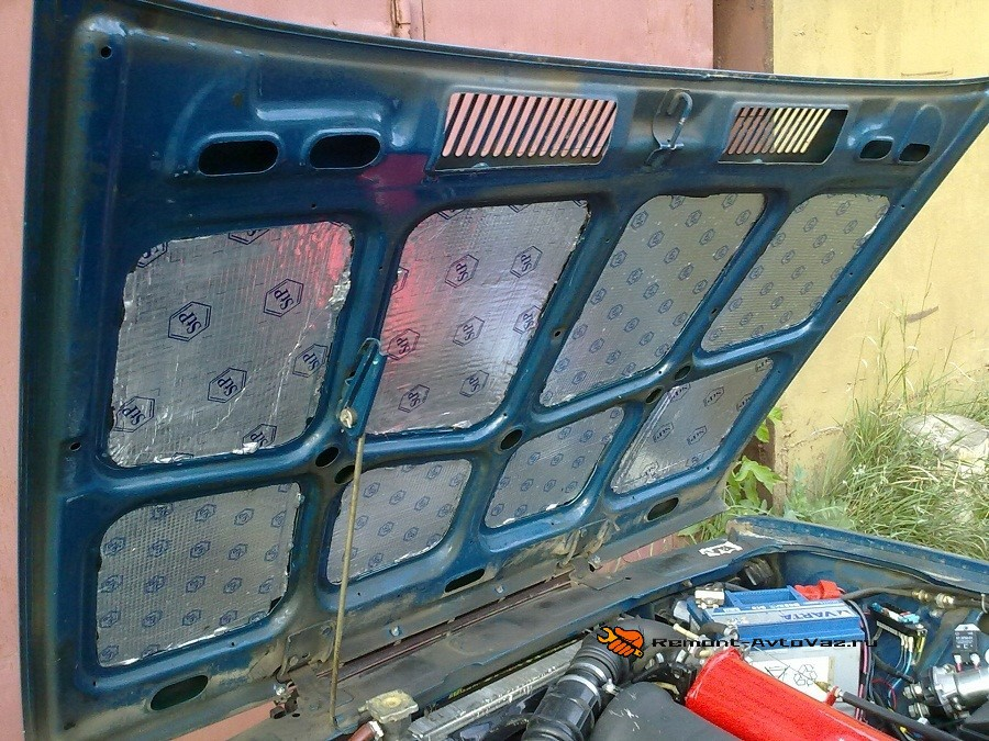 Утепление моторного отсека автомобиля ВАЗ-2107