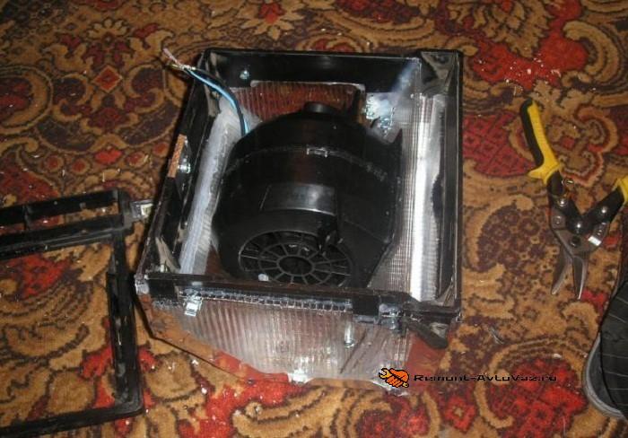 Ставим вентилятор печки с ВАЗ-2108 на семерку