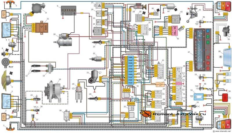 Схема електрооборудования ОКА