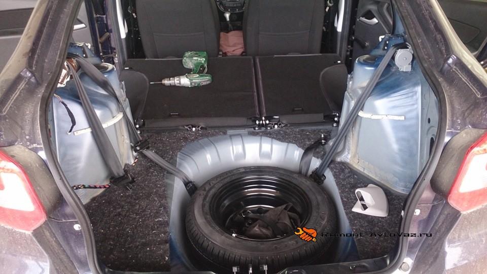 Багажник лифтбек обшивка