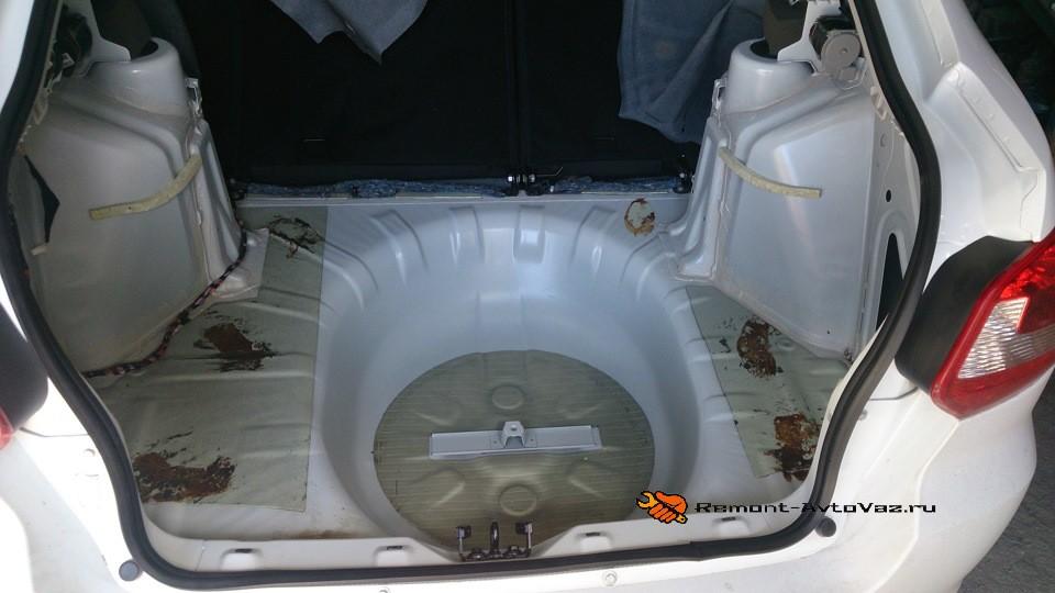Багажник размеры в см Гранта Лифтбек вывод