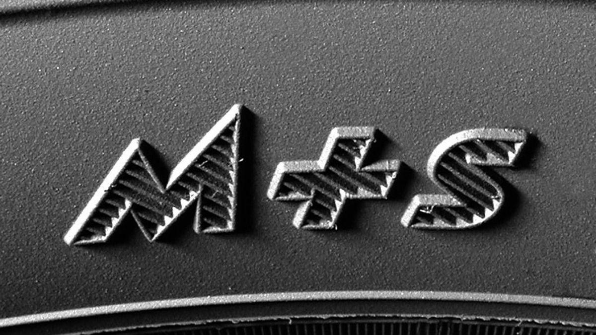 Фото шины с маркировкой M+S
