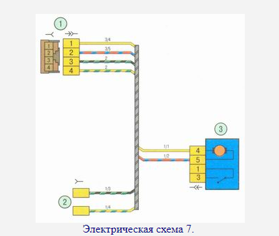 Электрическая схема задних дверей Гранта