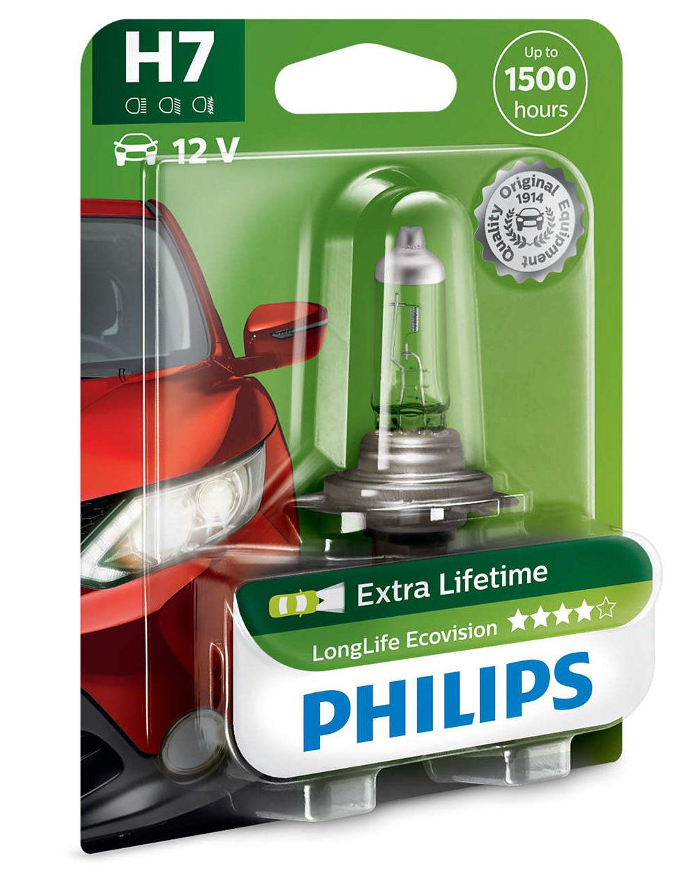 Philips H7 12V 55W PX26D Longe Life Ecovision лампа на Весту