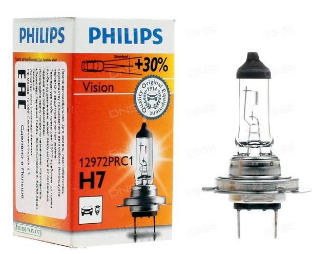 Philips Vision H7 лампа на Весту