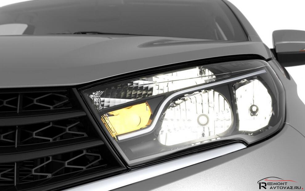 Замена ламп дальнего света на автомобиле Лада Веста