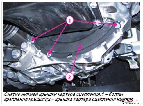 Замена сцепления на механической Ладе Веста
